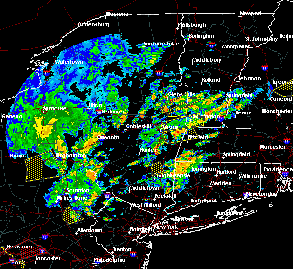 Radar Image for Severe Thunderstorms near Kingston, NY at 6/19/2017 1:40 PM EDT