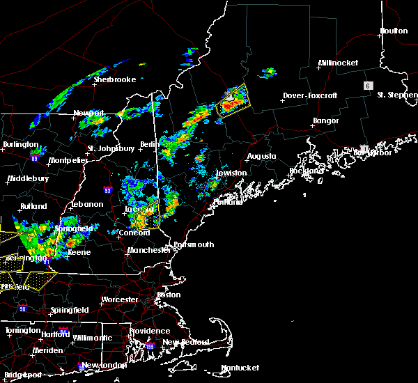 Radar Image for Severe Thunderstorms near Milton, NH at 6/19/2017 1:45 PM EDT
