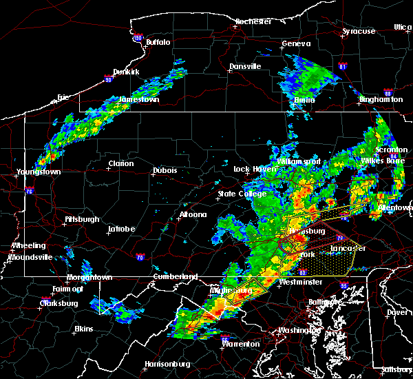 Radar Image for Severe Thunderstorms near Lampeter, PA at 6/19/2017 1:53 PM EDT