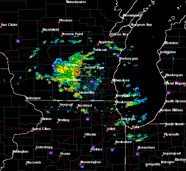 Radar Image for Severe Thunderstorms near Fall River, WI at 6/19/2017 12:56 PM CDT