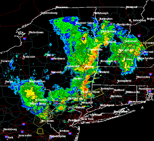 Radar Image for Severe Thunderstorms near Kingston, NY at 6/19/2017 3:51 PM EDT