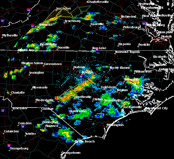 Radar Image for Severe Thunderstorms near Mamers, NC at 6/19/2017 3:52 PM EDT