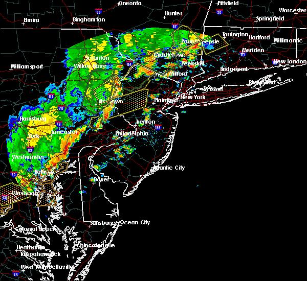 Radar Image for Severe Thunderstorms near Dover, NJ at 6/19/2017 4:00 PM EDT