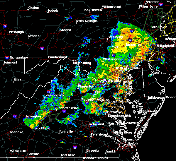Radar Image for Severe Thunderstorms near Riva, MD at 6/19/2017 4:23 PM EDT