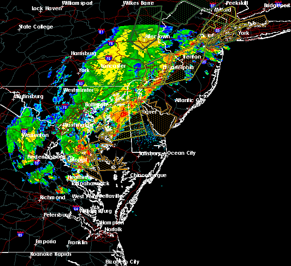 Radar Image for Severe Thunderstorms near Dover, DE at 6/19/2017 5:12 PM EDT