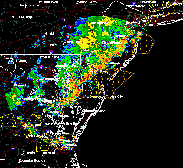 Radar Image for Severe Thunderstorms near Dover, DE at 6/19/2017 6:03 PM EDT