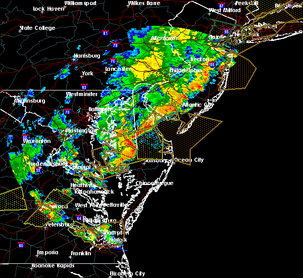 Radar Image for Severe Thunderstorms near Dover, DE at 6/19/2017 6:09 PM EDT