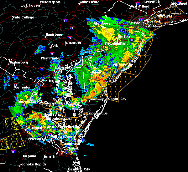 Radar Image for Severe Thunderstorms near Milford, DE at 6/19/2017 6:43 PM EDT