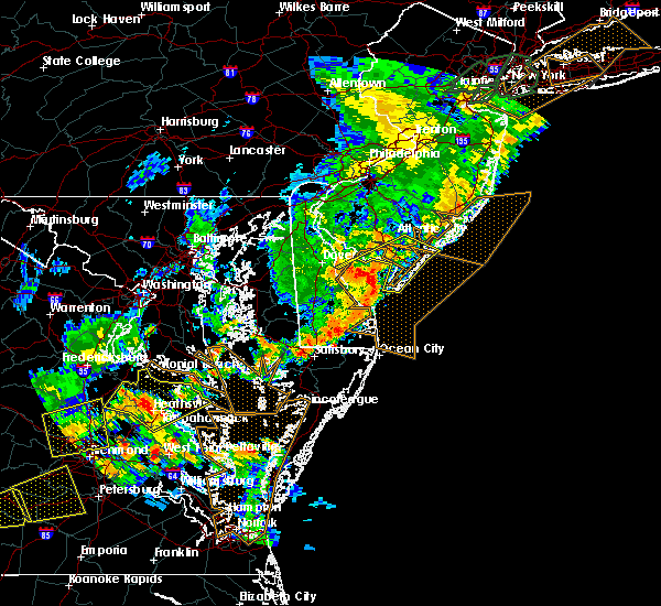 Radar Image for Severe Thunderstorms near Sea Isle City, NJ at 6/19/2017 6:50 PM EDT