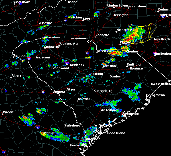 Radar Image for Severe Thunderstorms near Pageland, SC at 6/19/2017 6:50 PM EDT