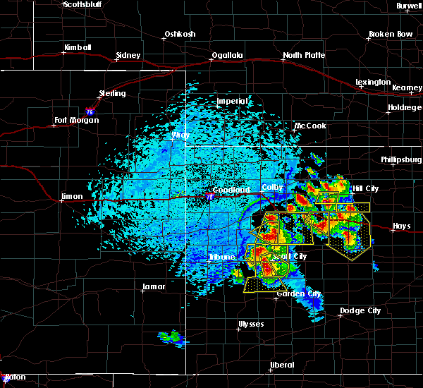 Radar Image for Severe Thunderstorms near Marienthal, KS at 6/20/2017 4:28 PM CDT
