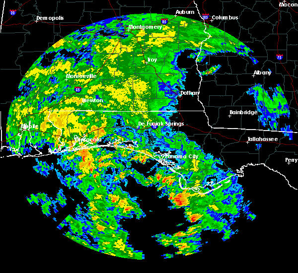 Radar Image for Severe Thunderstorms near Crestview, FL at 6/21/2017 4:51 AM CDT