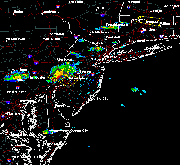 Radar Image for Severe Thunderstorms near Trevose, PA at 6/21/2017 4:33 PM EDT