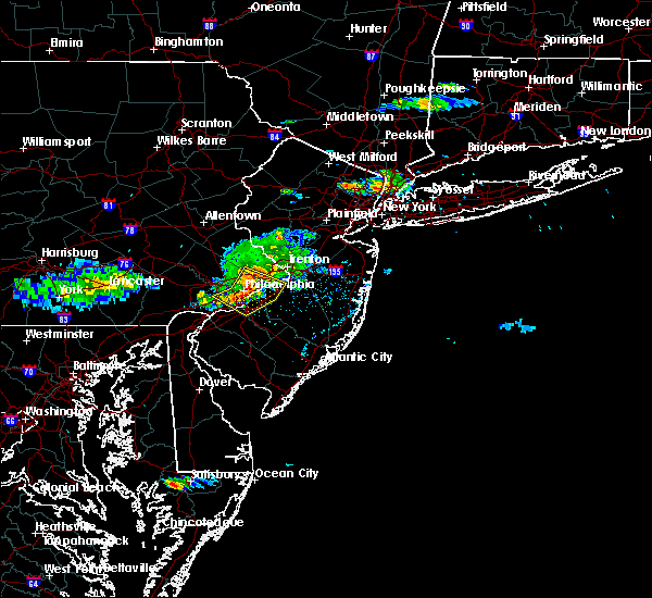 Radar Image for Severe Thunderstorms near Trevose, PA at 6/21/2017 4:55 PM EDT