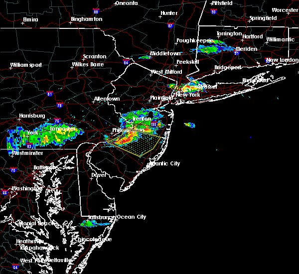 Radar Image for Severe Thunderstorms near Roebling, NJ at 6/21/2017 5:22 PM EDT
