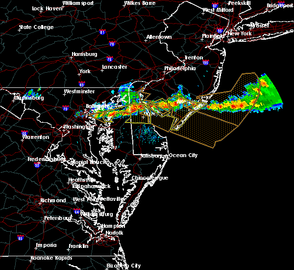 Radar Image for Severe Thunderstorms near Chestertown, MD at 6/21/2017 7:23 PM EDT