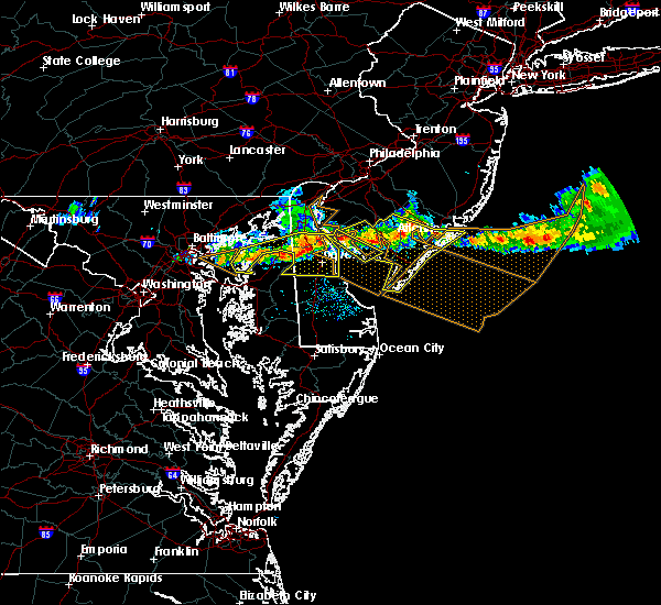 Radar Image for Severe Thunderstorms near Dover, DE at 6/21/2017 7:27 PM EDT