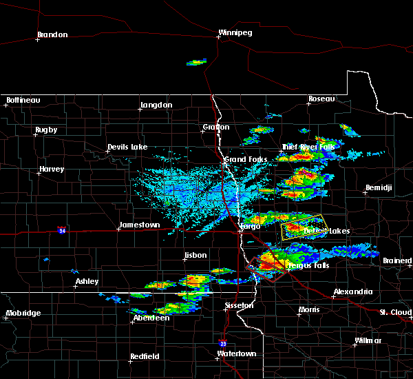 Radar Image for Severe Thunderstorms near Lake Park, MN at 6/21/2017 6:30 PM CDT