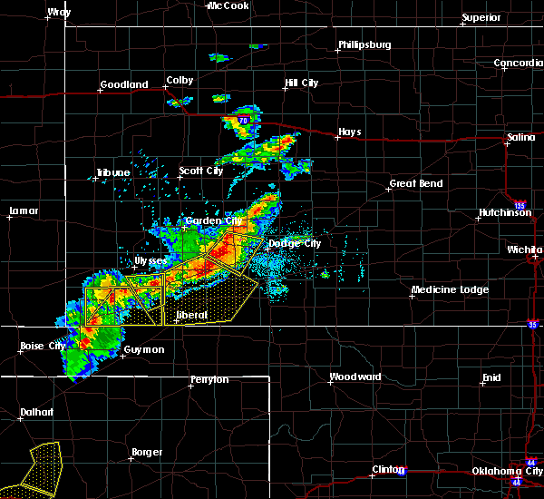 Radar Image for Severe Thunderstorms near Moscow, KS at 6/21/2017 7:01 PM CDT