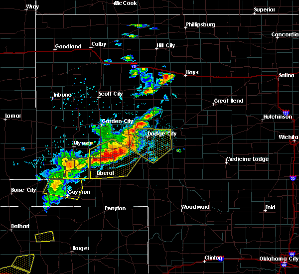 Radar Image for Severe Thunderstorms near Moscow, KS at 6/21/2017 7:23 PM CDT