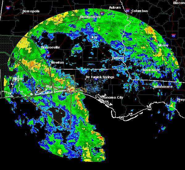 Radar Image for Severe Thunderstorms near Crestview, FL at 6/21/2017 7:43 PM CDT