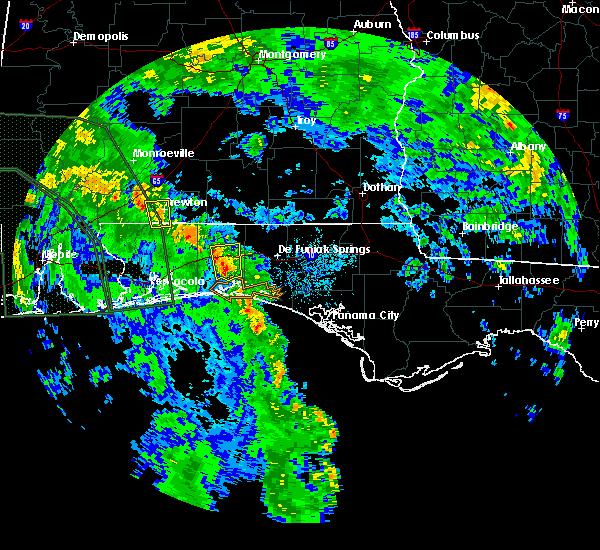 Radar Image for Severe Thunderstorms near Crestview, FL at 6/21/2017 8:02 PM CDT