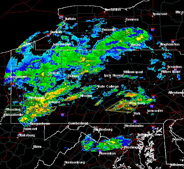 Radar Image for Severe Thunderstorms near Rutherford, PA at 6/23/2017 3:59 PM EDT