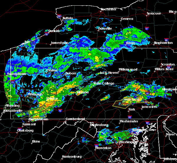 Radar Image for Severe Thunderstorms near Hopeland, PA at 6/23/2017 4:33 PM EDT