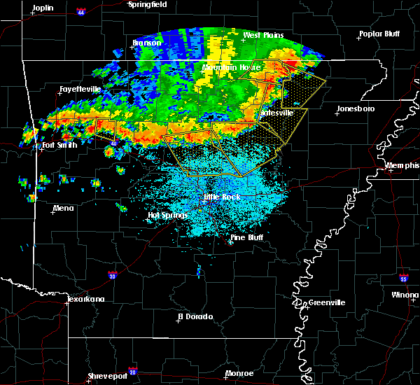 Radar Image for Severe Thunderstorms near Newport, AR at 6/23/2017 3:36 PM CDT