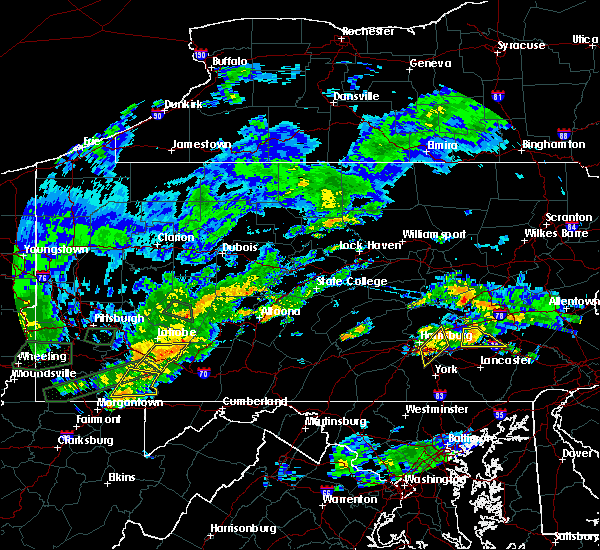 Radar Image for Severe Thunderstorms near Rutherford, PA at 6/23/2017 4:36 PM EDT