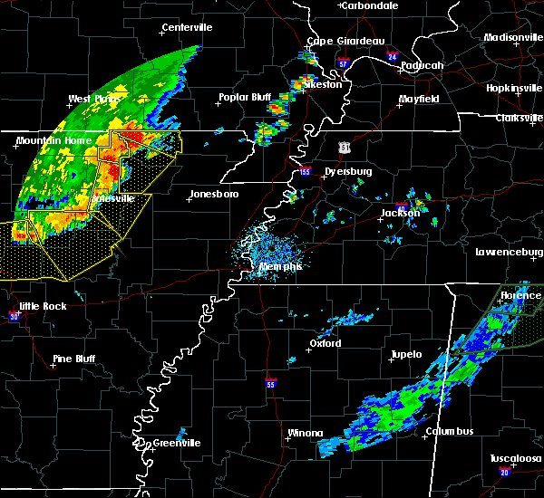 Radar Image for Severe Thunderstorms near Hardy, AR at 6/23/2017 3:39 PM CDT