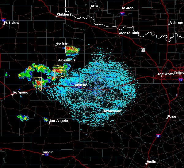 Radar Image for Severe Thunderstorms near Hamlin, TX at 6/23/2017 4:58 PM CDT