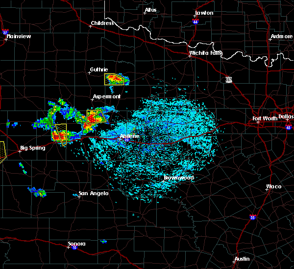 Radar Image for Severe Thunderstorms near Hamlin, TX at 6/23/2017 5:18 PM CDT