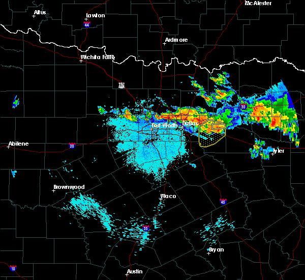 Radar Image for Severe Thunderstorms near Terrell, TX at 6/24/2017 12:45 AM CDT