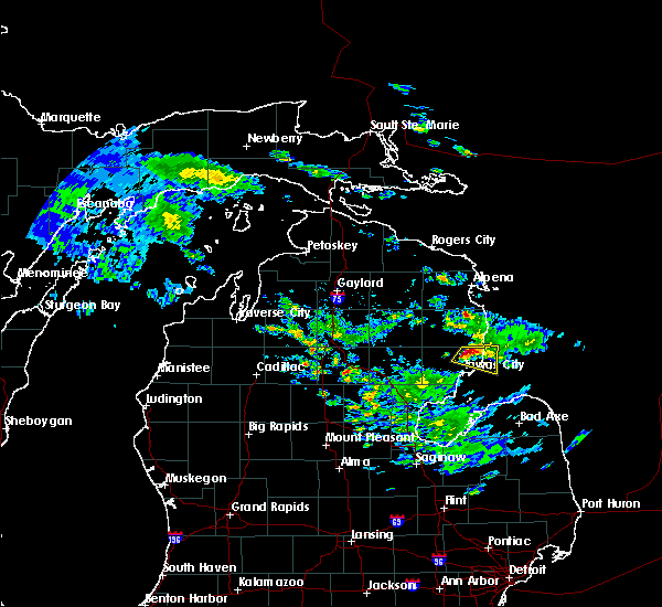 Radar Image for Severe Thunderstorms near Au Sable, MI at 6/24/2017 6:09 PM EDT