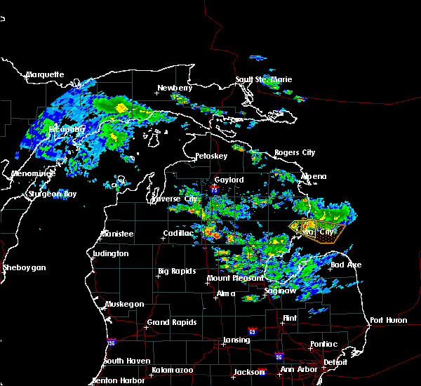 Radar Image for Severe Thunderstorms near Au Sable, MI at 6/24/2017 6:30 PM EDT