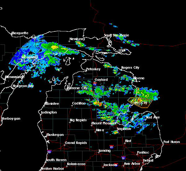 Radar Image for Severe Thunderstorms near Au Sable, MI at 6/24/2017 6:43 PM EDT