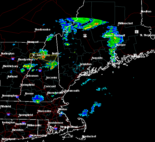 Radar Image for Severe Thunderstorms near Berlin, NH at 6/25/2017 7:14 PM EDT