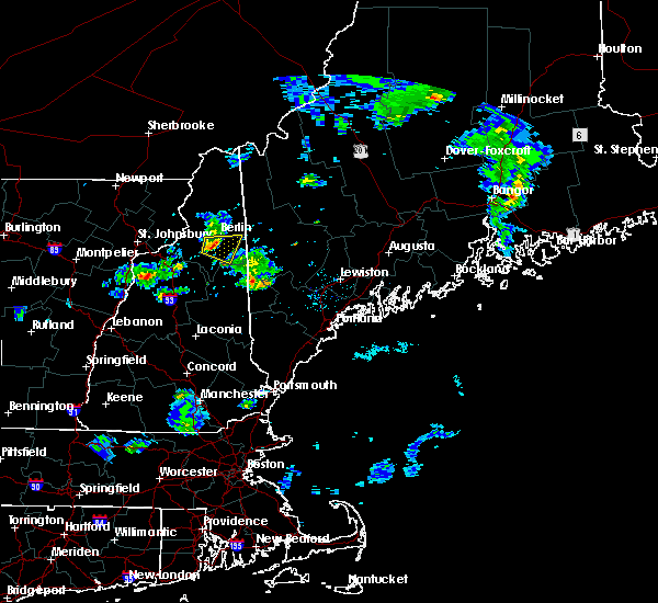 Radar Image for Severe Thunderstorms near Berlin, NH at 6/25/2017 7:42 PM EDT