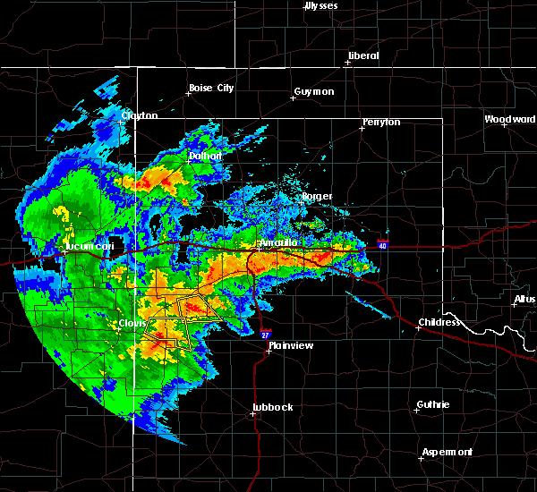 Radar Image for Severe Thunderstorms near Dimmitt, TX at 6/25/2017 11:03 PM CDT
