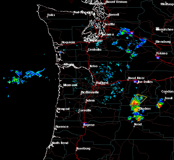 Radar Image for Severe Thunderstorms near Maupin, OR at 6/26/2017 2:12 PM PDT