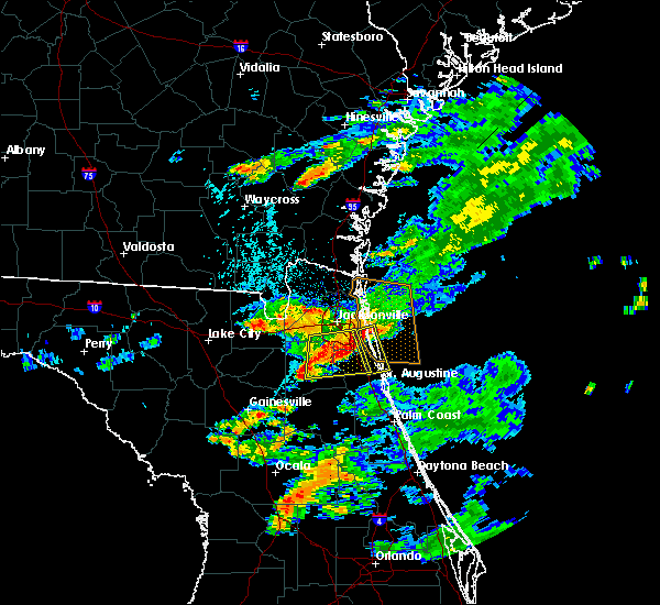 Radar Image for Severe Thunderstorms near Jacksonville, FL at 6/26/2017 5:25 PM EDT