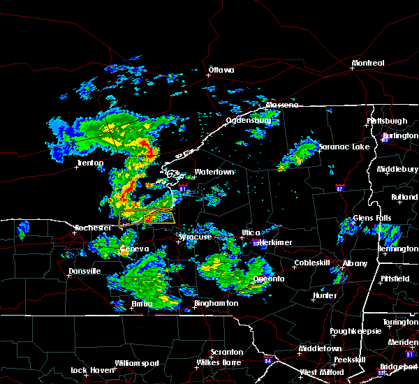 Radar Image for Severe Thunderstorms near Minetto, NY at 6/26/2017 7:09 PM EDT