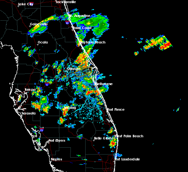 Radar Image for Severe Thunderstorms near Christmas, FL at 6/27/2017 4:44 PM EDT