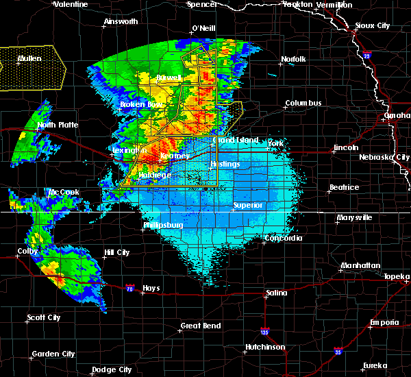 Radar Image for Severe Thunderstorms near Funk, NE at 6/27/2017 10:58 PM CDT