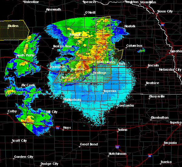 Radar Image for Severe Thunderstorms near Grand Island, NE at 6/27/2017 11:29 PM CDT