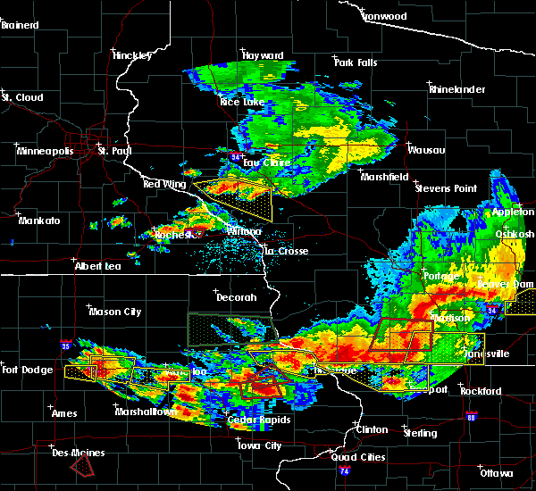 Radar Image for Severe Thunderstorms near St. Charles, MN at 6/28/2017 7:02 PM CDT