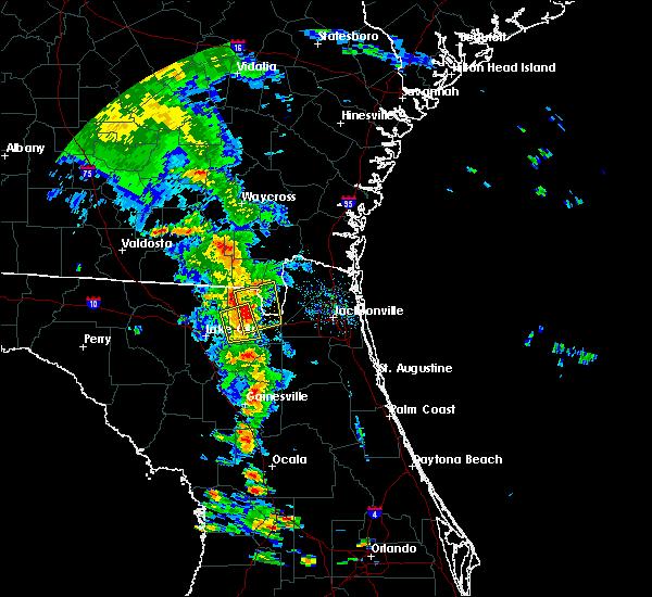 Radar Image for Severe Thunderstorms near Glen St. Mary, FL at 6/29/2017 6:33 PM EDT