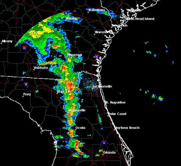 Radar Image for Severe Thunderstorms near Glen St. Mary, FL at 6/29/2017 6:49 PM EDT