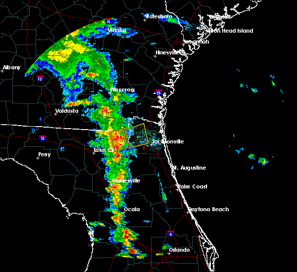 Radar Image for Severe Thunderstorms near Callahan, FL at 6/29/2017 6:58 PM EDT